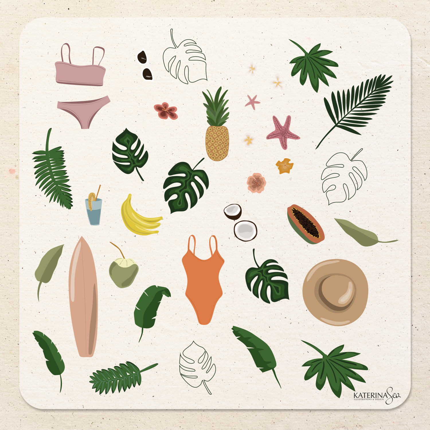 Tropical Mood Abstract Vector Collection
