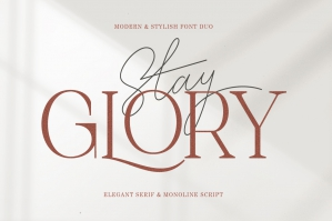 Stay Glory Font Duo