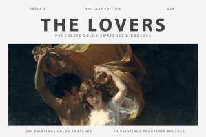 The Lovers Procreate Brushes & Color Swatches