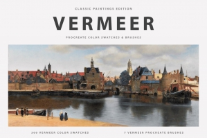 Vermeer's Procreate Brushes & Color Swatches
