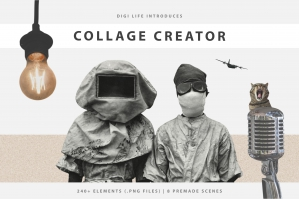 The Ultimate Collage Creator Kit – 250 + Elements