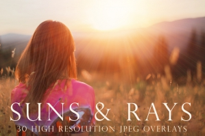 Suns and Rays Photography Overlays
