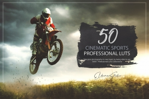 50 Cinematic Sports Presets and LUTs Pack