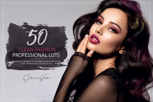 50 Clean Fashion Presets and LUTs Pack