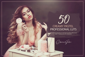 50 Creamy Pastel Presets and LUTs Pack