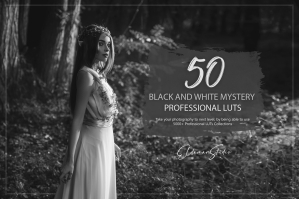 50 Black and White Mystery Presets and LUTs Pack