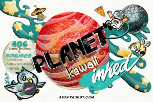 Planet Kawaii Inked for Procreate & Other Media