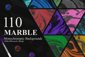 110 Marble Ink Monochromatic Backgrounds