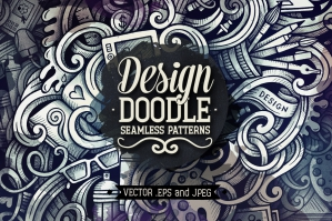 Design and Art Graphics Doodle Seamless Patterns