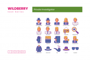 80 Private Investigator Icons - Wildberry Series