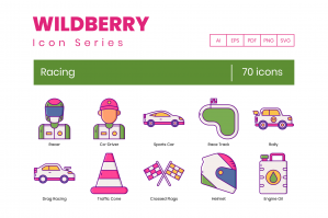 70 Racing Icons - Wildberry Series