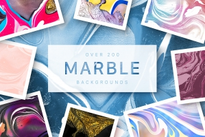 200 Marbled Papers – Huge Collection