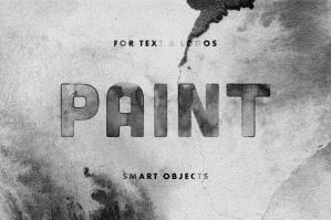 Ink Paint Text Effect & Logo Mockup