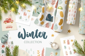 Christmas Clipart & Winter Patterns