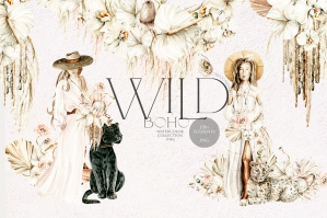 Boho Girls, Dried Flowers, and Wildcats