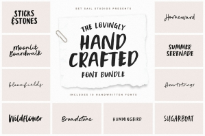 The Lovingly Hand Crafted Font Bundle