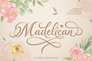 Madelican - Modern Calligraphy Font
