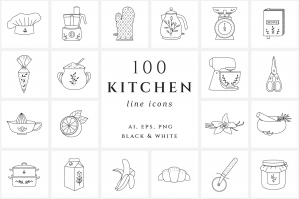 Kitchen & Cooking Icons