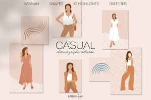 Casual Abstract Graphic Collection
