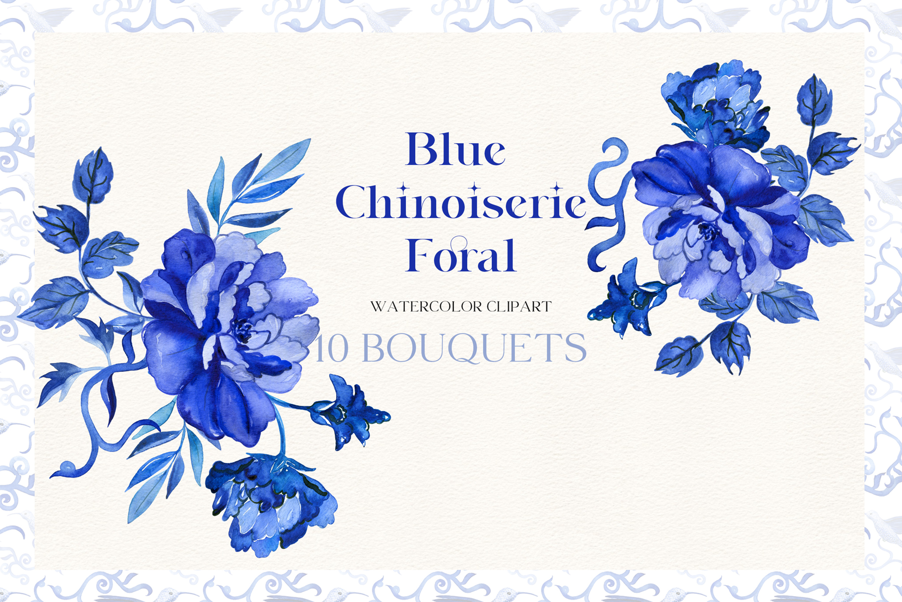 Blue Chinoiserie Floral