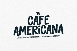 The Cafe Americana - Sign Painter Font Family