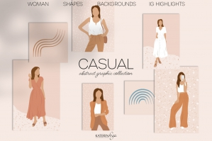 Abstract Fashion Woman Graphic Collection