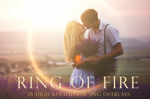 Ring of Fire Lens Flare Overlays