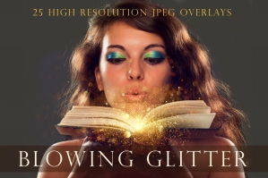Blowing Glitter Photography Overlays