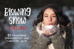 Blowing Snow Photoshop Overlays