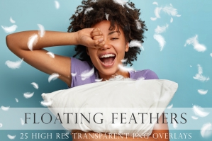 Floating Feather Overlays