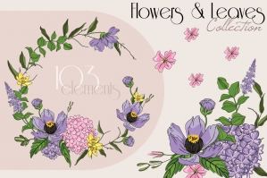 Flowers and Leaves Collection