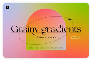 Grainy Gradients - Backgrounds & Abstract Shapes
