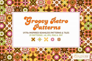 Groovy 1970s Inspired Retro Patterns
