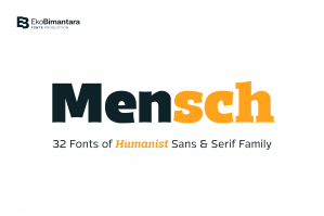 Mensch - Humanist Sans and Serif Family