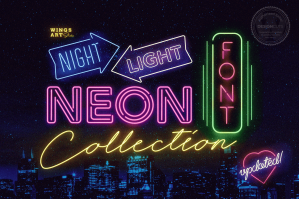 The Complete Night Light Neon Font Collection