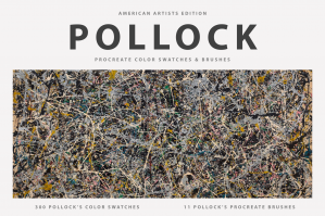 Jackson Pollock's Procreate Brushes & Color Swatches