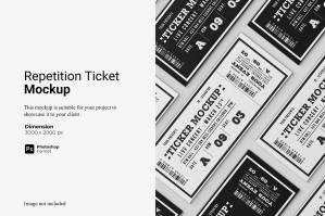 Repetition Ticket Mockup