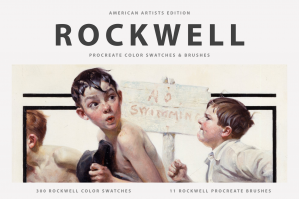 Norman Rockwell's Procreate Brushes