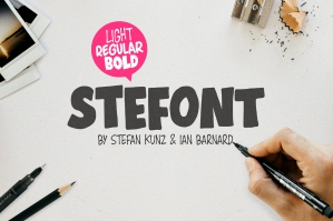 Stefont - Hand Drawn Typeface