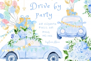 Drive By Party Blue