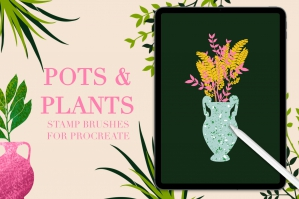 Pots and Plants Stamps for Procreate