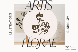 Artistic Abstract Floral Line Art