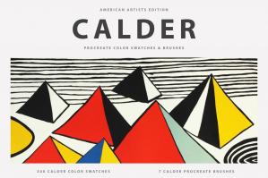 Calder's Procreate Brushes & Color Swatches