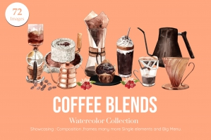 Coffee Blends Watercolor