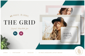 The Grid Layout - PSD & Indd