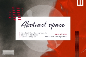 Abstract Space - Textures, Backgrounds & Shapes Set