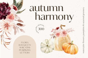 Autumn Harmony Watercolor Collection