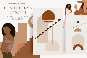 Abstract Woman and Landscape Bundle