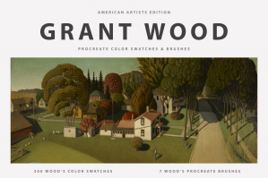 Grant Wood's Procreate Brushes & Color Swatches