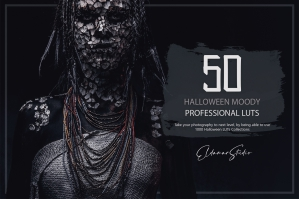 50 Halloween Moody LUTs and Presets Pack